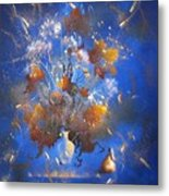 The Blue Bouquet Metal Print