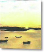 The Boat Launch Metal Print
