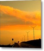 The Bridge At Sunset Metal Print