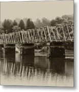 The Bridge At Washingtons Crossing Metal Print by Bill Cannon