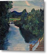 The Bridge In The Valley Metal Print