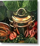 The Cabbage Pot Metal Print