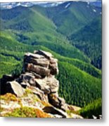 The Cascade Mountains Metal Print