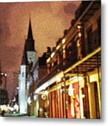 The Cathedral At Night Metal Print
