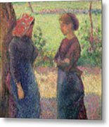 The Chat Metal Print