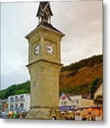 The Clock Tower At Shanklin Metal Print