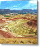 The Colorful Painted Hills In Eastern Oregon Metal Print