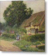 The Coming Of The Haycart  Metal Print