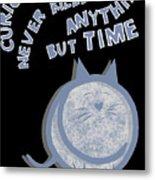 The Curious Cat Metal Print