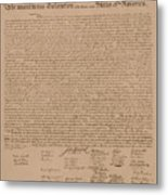 The Declaration Of Independence Metal Print