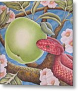 The Devil And Granny Smith Metal Print