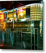The Diner By Night Metal Print