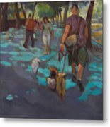 The Dog Walker Metal Print