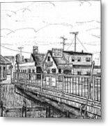 The Drawbridge As Seen From Pjs Metal Print