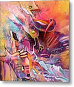 The Dream Of The Fish That Caried His House On His Back Metal Print