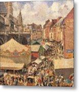 The Fair In Dieppe Metal Print by Camille Pissarro