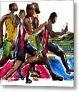The Finish Line Metal Print by Russell Pierce