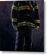 The Firefighter  Metal Print