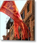 The Flag Of Venice Metal Print