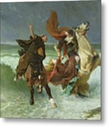 The Flight Of Gradlon Mawr Metal Print by Evariste Vital Luminais