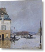The Flood At Port Marly Metal Print by Alfred Sisley