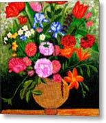 The Flower Pot Metal Print