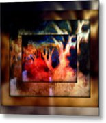 The Forrest Collage Metal Print