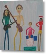 The Four Dogs Band Metal Print