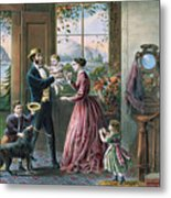 The Four Seasons Of Life  Middle Age Metal Print by Currier and Ives