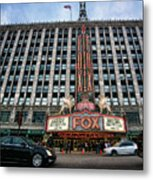 The Fox Theatre In Detroit Welcomes Charlie Sheen Metal Print