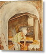 The French Baker Metal Print