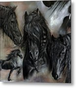 The Friesians In My Head Metal Print by Caroline Collinson