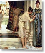 The Frigidarium Metal Print by Sir Lawrence Alma-Tadema