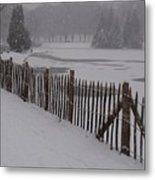 The Frozen Lake Metal Print