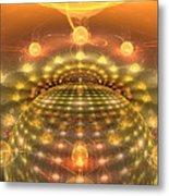 The Galactic Mirror Ball Metal Print