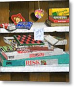 The Game Shelf Metal Print
