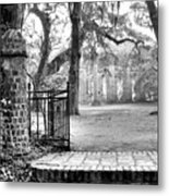 The Gates Of The Old Sheldon Church Metal Print