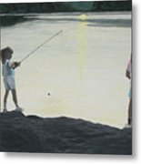 The Girls At The Lake Metal Print by Candace Shockley