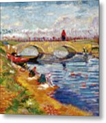 The Gleize Bridge Over The Vigneyret Canal  Metal Print