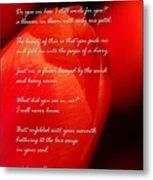 The Gratitude Of A Broken Flower  Metal Print