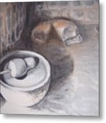 The Grinding Stone Metal Print