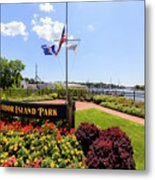 The Harbor Island Park In Mamarineck, Westchester County Metal Print