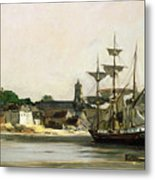 The Harbour At Honfleur Metal Print