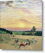 The Harvest Metal Print by Boris Mikhailovich Kustodiev