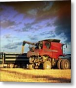 The Harvest Run Metal Print