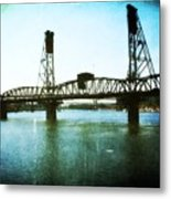 The Hawthorne Bridge Metal Print