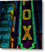The Historic Fox Theatre Metal Print by Kelly Rader
