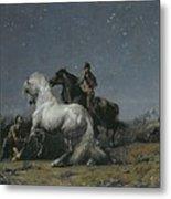 The Horse Thieves Metal Print