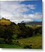 The Inca-canari Ruins At Ingapirca V Metal Print
