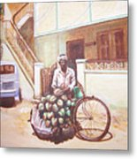The Indian Tendor-coconut Vendor Metal Print